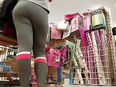 Grey Leggings Tight white girl booty pt. 2