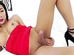 Hot Asian Shemale Sa Enjoys Masturbating