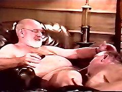 Older man sucking a grandfather