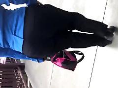 Big juicy booty milf in black dress pants 1