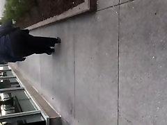 Bbw big booty gilf in grey dress pants