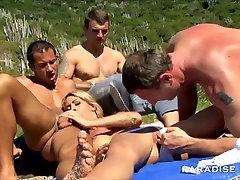 Anal Public Beach Gangbang