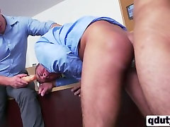 Office action with three horny gays