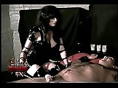 Big titted mistress Rhiannon tortures a helpless slave part 2