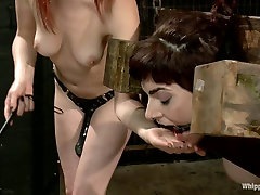Sexy submissive lifestyler suffers with rough & kinky lesbian sex!