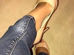 nude heels and pantyhose