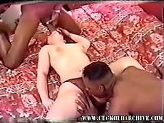 Cuckold Archive Sissy watches wife with 2 BBC bulls Cleans u