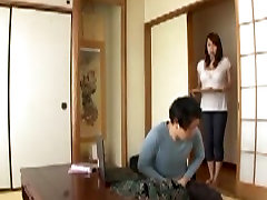 Japanese Mother in law in Step Sons Wet Dream