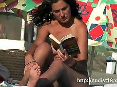 Public nudist voyeur gets a really hot nudist video