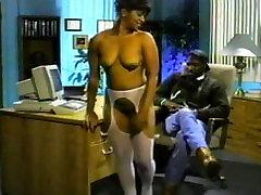 Horny pornstar Lady Antoinette in fabulous black and ebony, blowjob adult scene