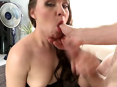 Real MILF suck and fuck big white cock