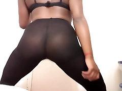 See through legging