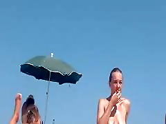 Three Hot Babes nude at the beach