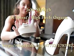 Julie Skyhigh&039;s orgasm with high heels sex toy