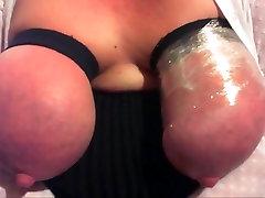 Bound big tits swollen nipples