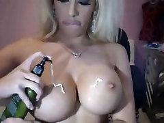 Blonde Milf Creammy Her Big Boobs On Webcam