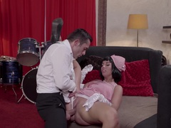 PINUP SEX - Gorgeous Hungarian pinup girl Jenette seduces and fucks musician