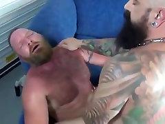 Tattoo daddy bareback fucked