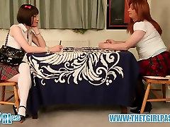 Brunette crossdresser gets hard ass spanking for cheating