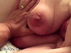 BBW Wife Clair - Big Tits Close Up Fondled