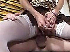Mature tgirl sucking cock and riding it