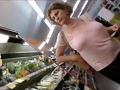 Beautiful mature lady&039;s tits at the market