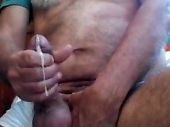 Silver bear play and cum