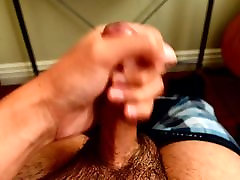 Asian twink jerking with cumshot