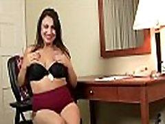 Pregnant milf Jocelyn fingers her pantyhosed pussy