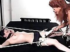 Bounded beauty gets her cunt fucked