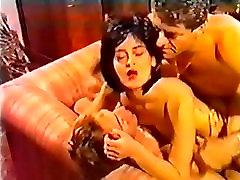 vintage retro dp foursome anal big cock cumshot facial