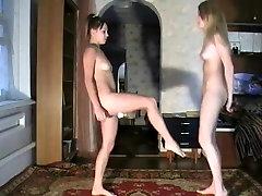 Amazing amateur Lesbian, BDSM sex clip