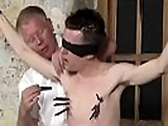 Gay bondage porn video With his tender ball sack tugged and his dick