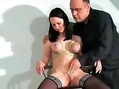 Amazing homemade BDSM, Stockings sex movie