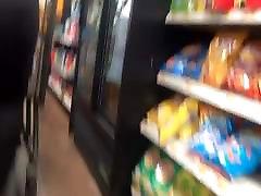 Phat Ass VPL in Black Leggings Checkout Line