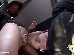 Pierced punks facefucking and cum eating