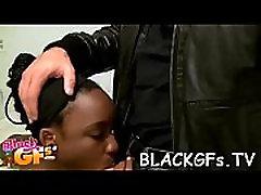 Black beauty rides dick on closeup