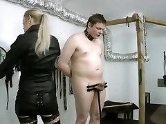 Amazing homemade BDSM, Fishnet fj quickie movie