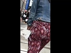 Milf Jiggling booty in soft pants NO PANTIES