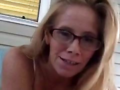 Milf shows pussy and tits