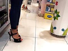 teens sexy high heels big red long toes