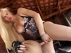 Incredible homemade shemale scene with Blonde, Outdoor scenes