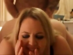 Lovely blonde bbw with cumshot on ass