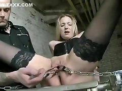 Fabulous amateur BDSM, Blonde adult scene