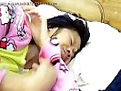 Asian MILF on the Bed with Her Small- To Increase Penis Size Visit: nolimp.com