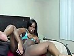 Busty ebony squirter Nyna with big bouncing booty
