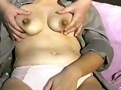 Hard Japanese lactating nipples