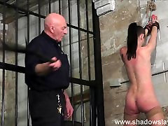 Strict whipping of amateur slave Lolani and spanking