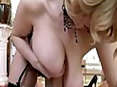 Doxy gets out tits and bows