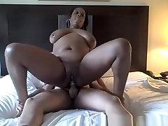 Chubby Ebony Chick With Pierced Nipples Fucked